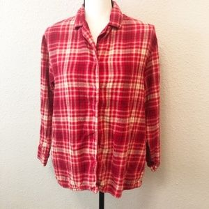 Victoria's Secret Flannel Plaid Pajama Shirt